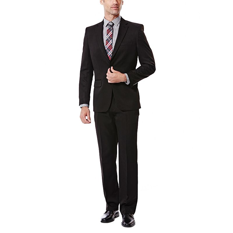 Men's Haggar Tailored-Fit Travel Performance Black Gabardine Suit Jacket