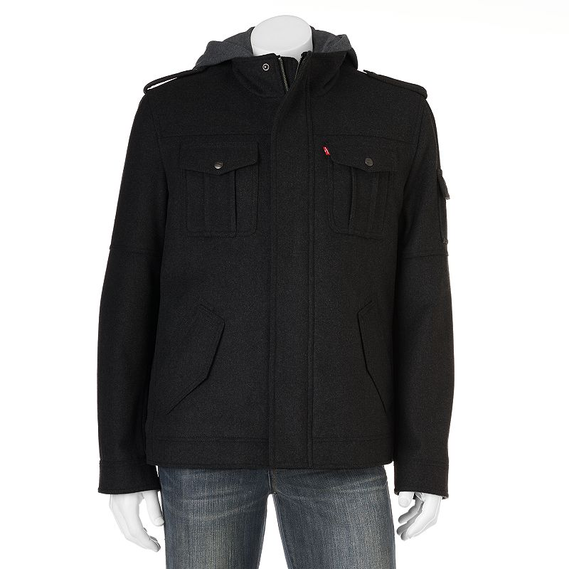 Men's Levi's Wool-Blend 4-Pocket Hooded Jacket