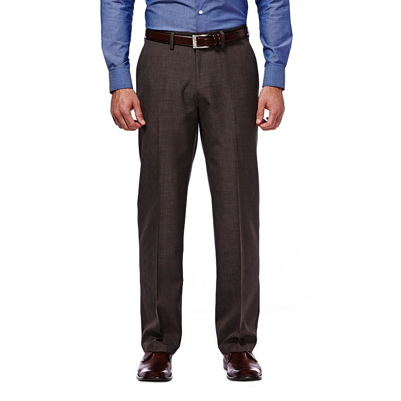 Men's Haggar Straight-Fit Travel Performance Brown Suit Pants