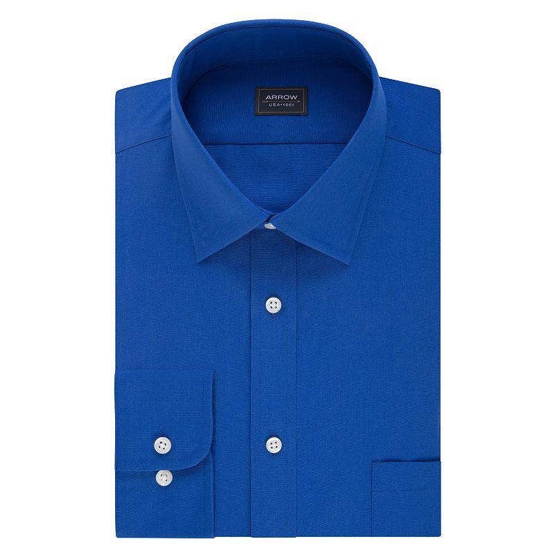 men 39 s arrow regular fit wrinkle free dress shirt dealtrend