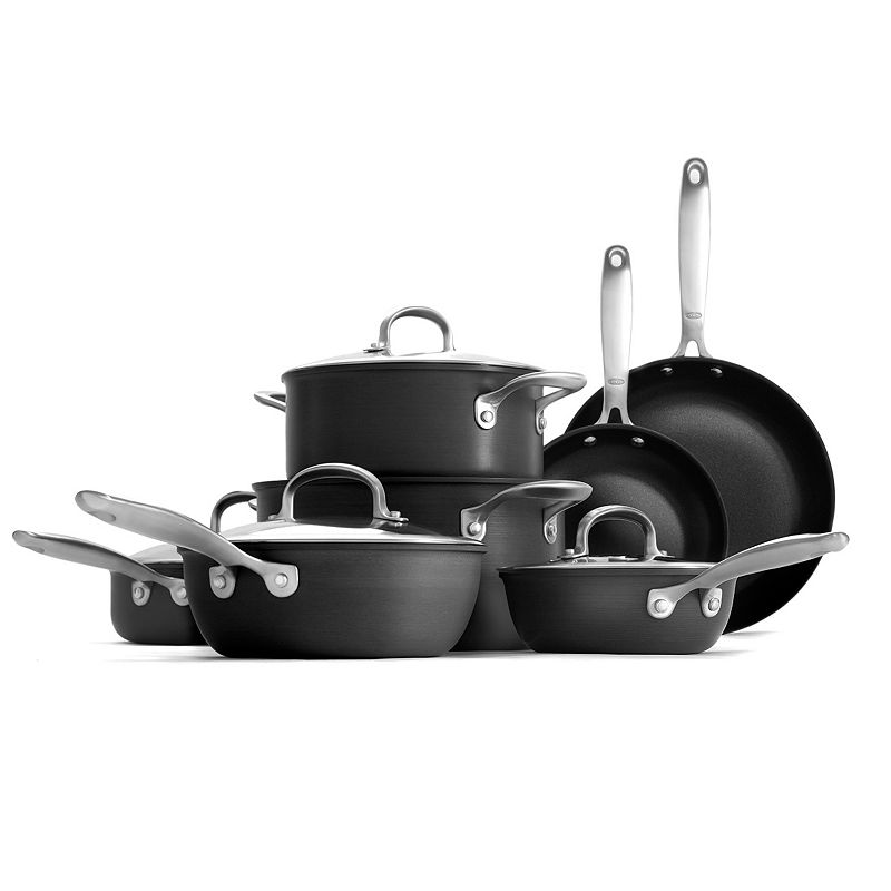 OXO Hard-Anodized 12-pc. Nonstick Cookware Set
