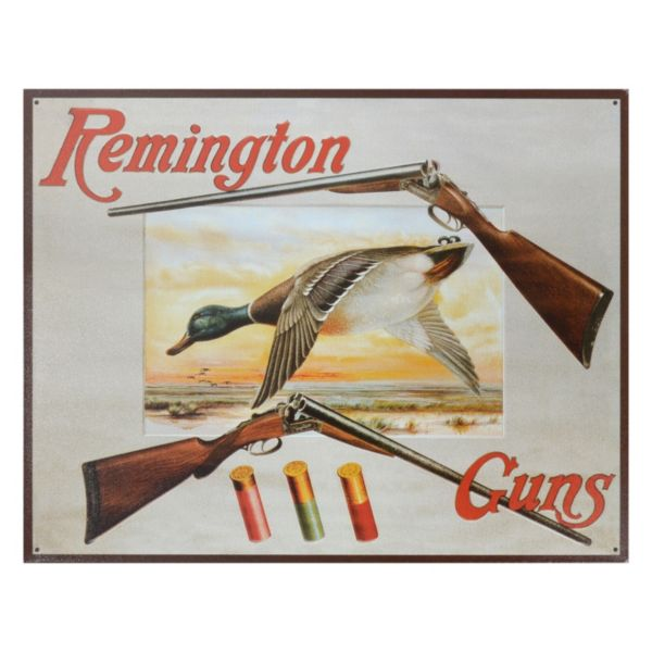 Remington Guns Vintage Metal Wall Decor