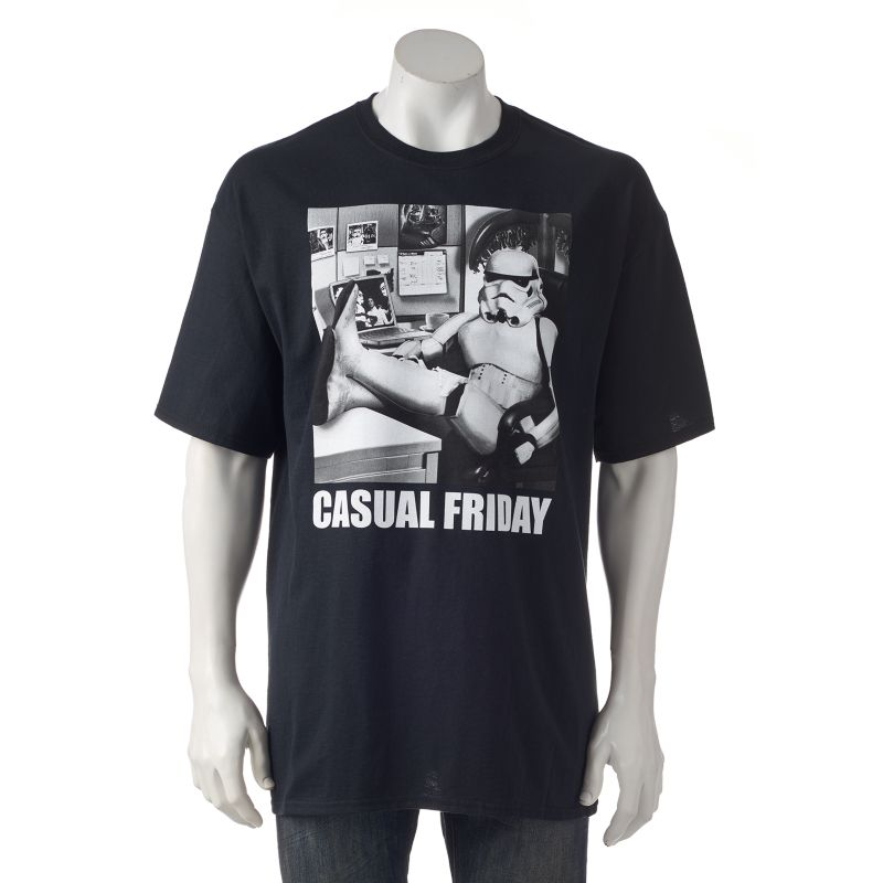 "Fifth Sun Star Wars ""Casual Friday"" Tee - Big & Tall, Size: 3XB (Black)"