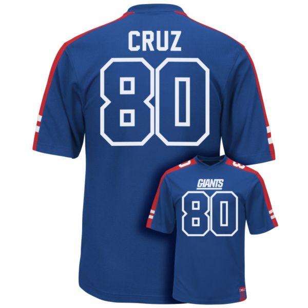 Men's Majestic New York Giants Victor Cruz Hashmark Player Top
