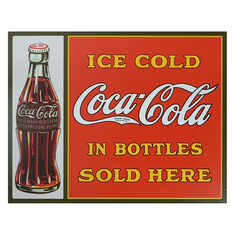 Coca-Cola Bottles Vintage Metal Wall Decor