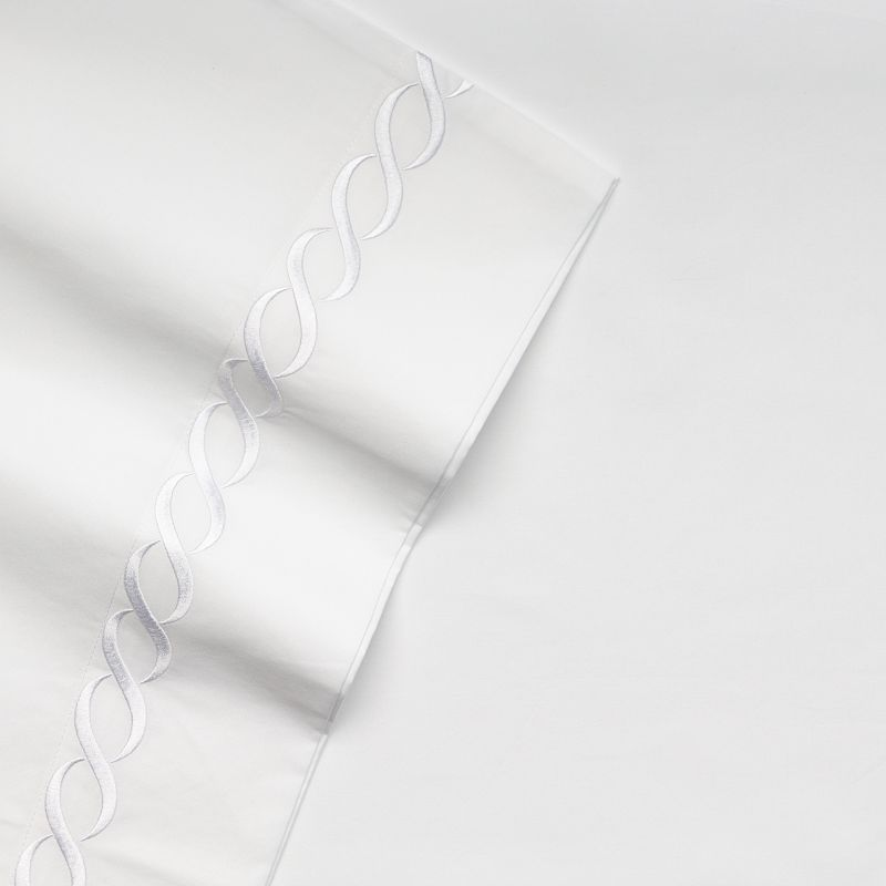 Kassatex Letto Cable 300-Thread Count Egyptian Cotton Sateen Deep-Pocket Sheets
