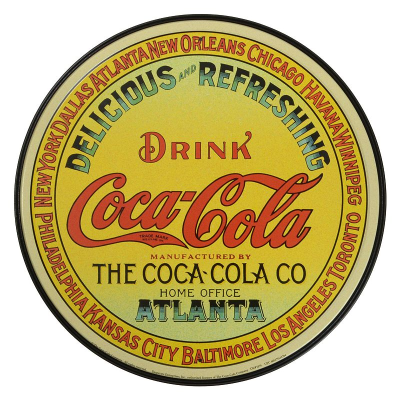 Coca-Cola Refreshing Vintage Metal Wall Decor