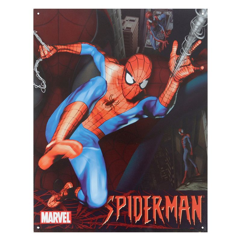 Marvel Spider-Man Vintage Metal Wall Decor
