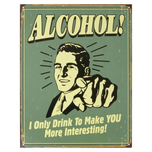 Alcohol Vintage Metal Wall Decor