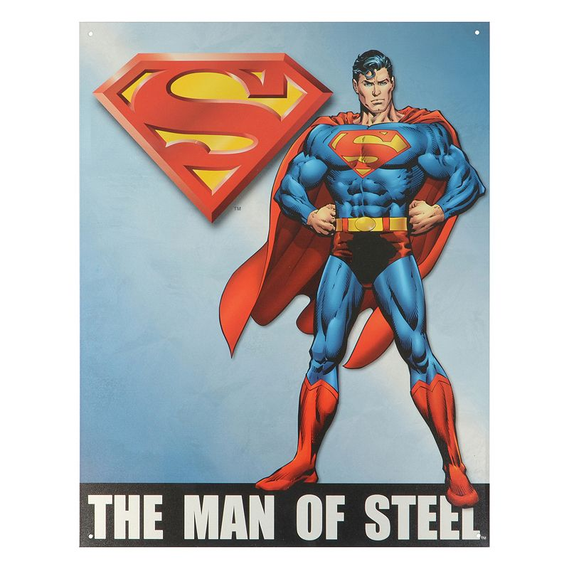 DC Comics Man of Steel Superman Vintage Metal Wall Decor