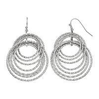 Apt. 9® Textured Hoop Drop Earrings