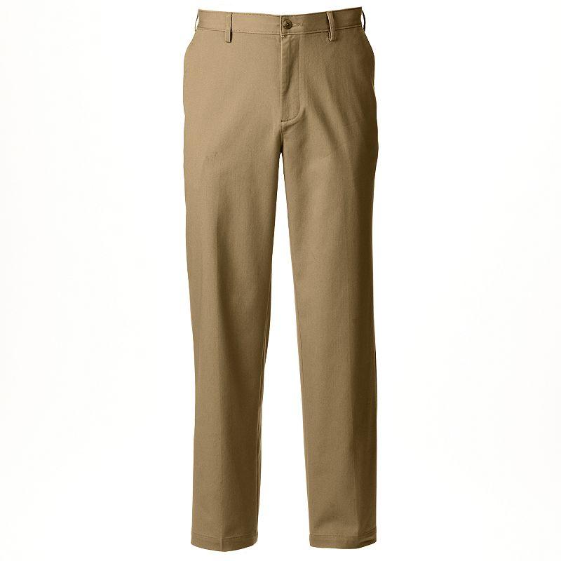 Men's Croft & Barrow® Straight-Fit Stretch True Comfort Flat-Front Pants