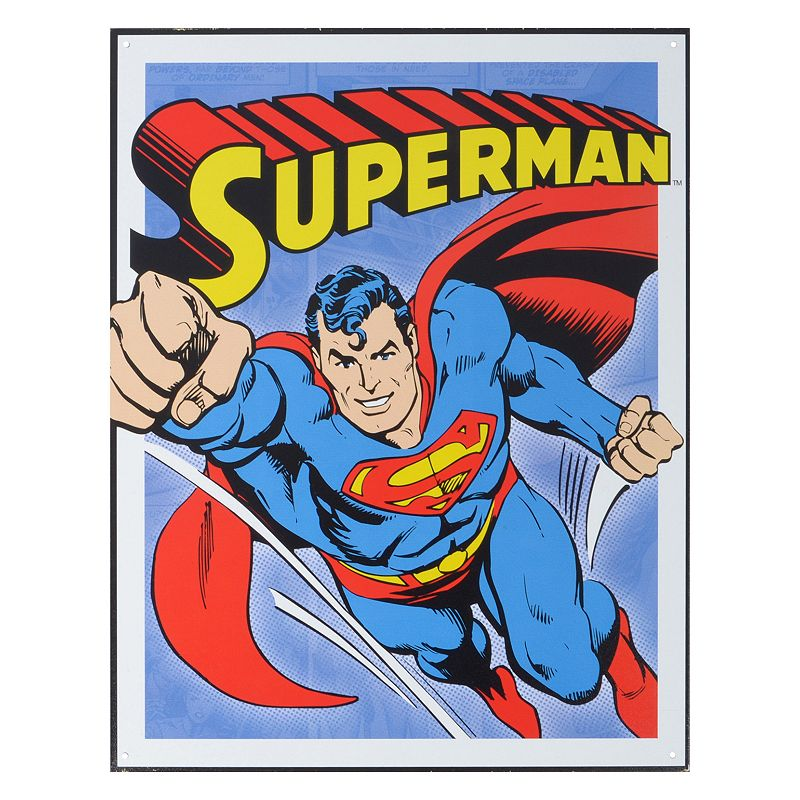 DC Comics Superman Vintage Metal Wall Decor