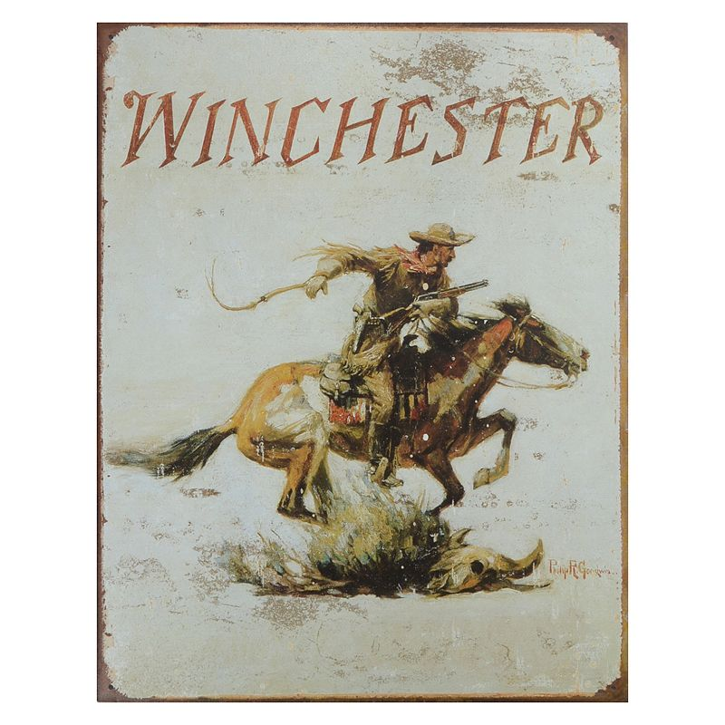 Winchester Vintage Metal Wall Decor