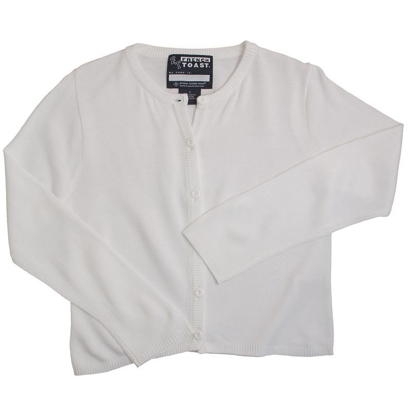 Girls 16-20 French Toast School Uniform Button-Front Cardigan