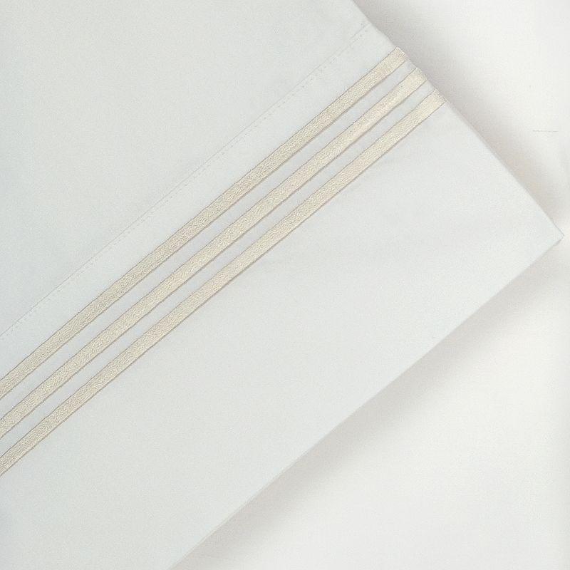 Pointehaven 300-Thread Count Embroidered Egyptian Cotton Deep-Pocket Sheets