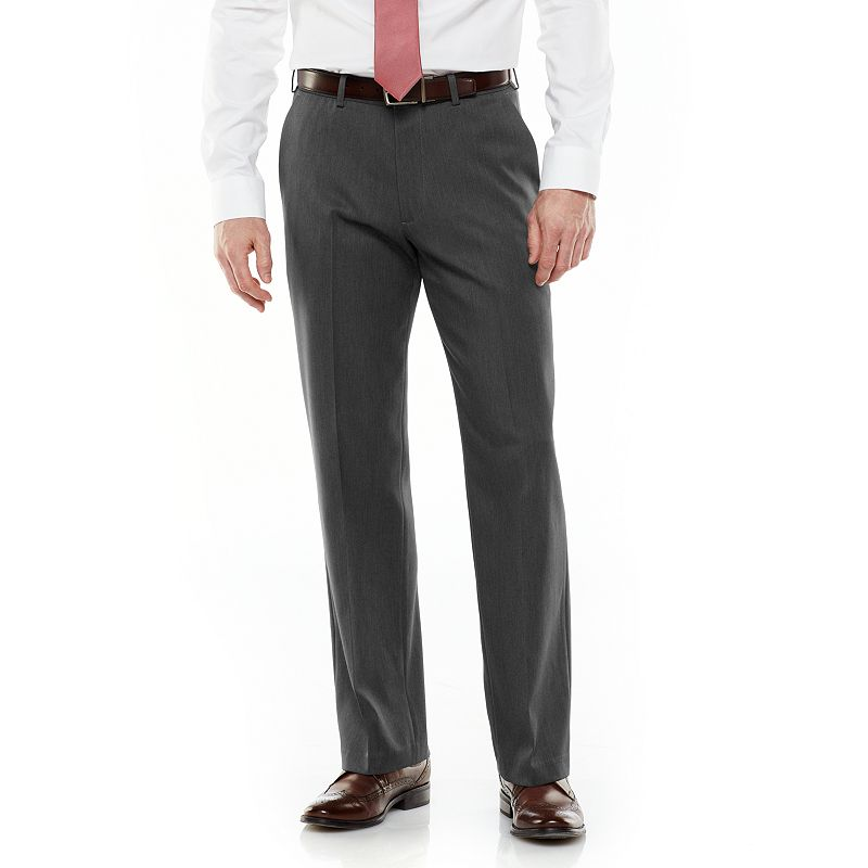 Big & Tall Van Heusen Micro Melange Straight-Fit Flat-Front Dress Pants