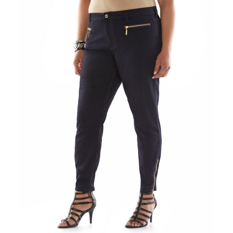 Plus Size Jennifer Lopez Skinny Ankle Jeans, Women's, Size: 16 W, Blue