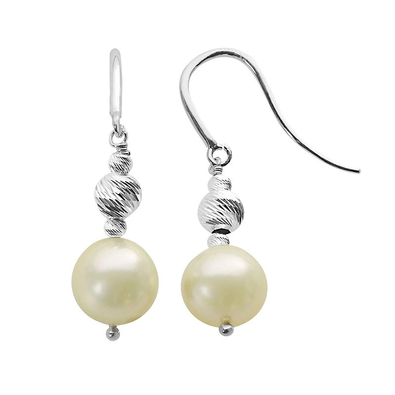PearLustre by Imperial South Sea Cultured Pearl & Sterling Silver Bead Drop Earrings