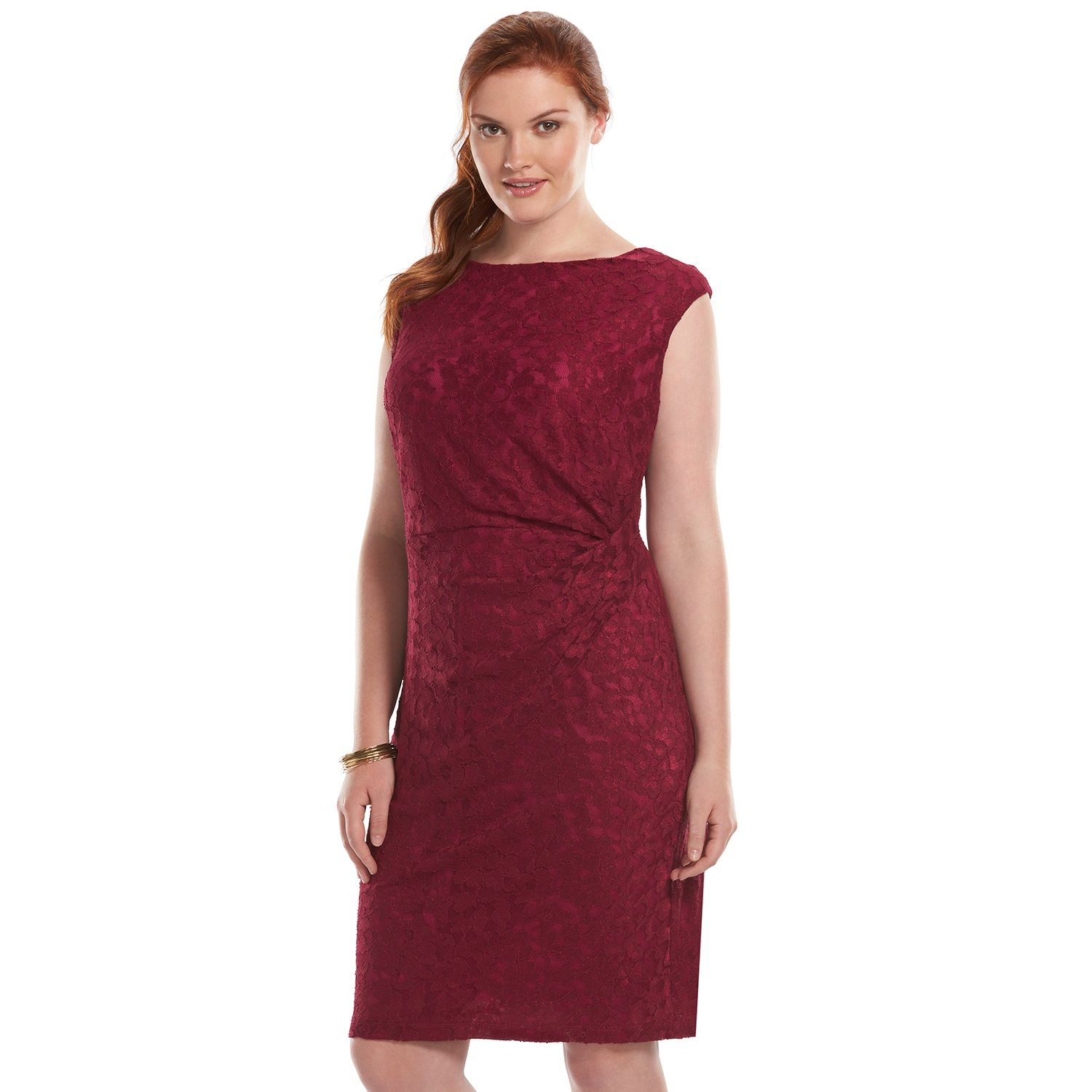 Red lace dress size 16