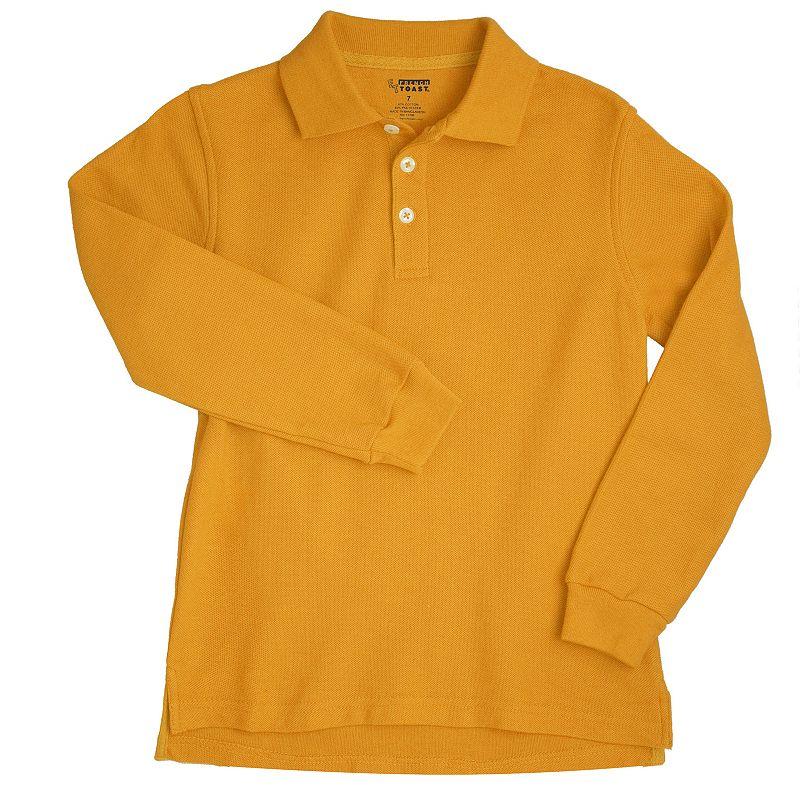 Toddler Boy French Toast School Uniform Long-Sleeve Pique Polo
