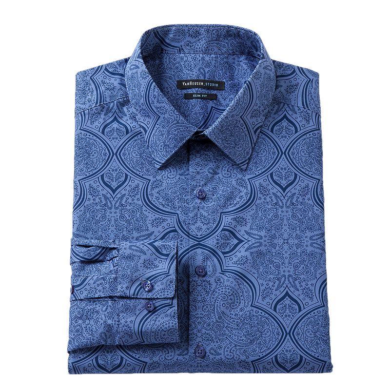 Men's Van Heusen Slim-Fit Paisley Wrinkle-Free Dress Shirt