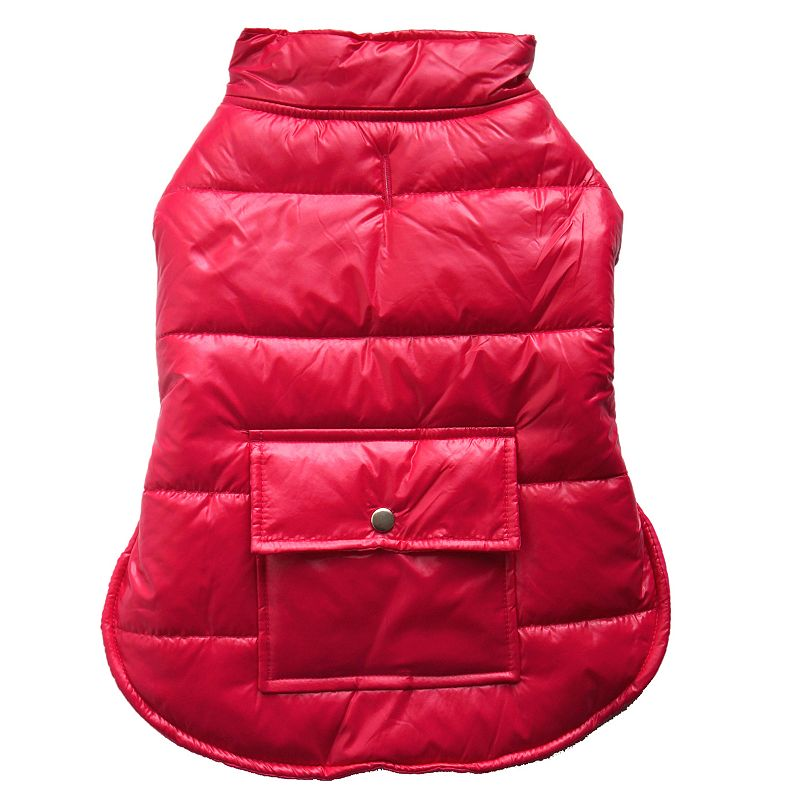 Royal Animals Hooded Puffer Dog Coat with Pocket