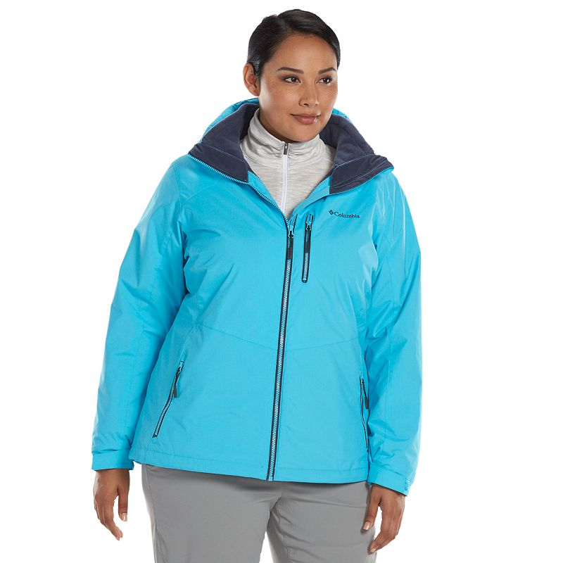 Plus Size Columbia Slope Sweetie Hooded 3-in-1 Systems Jacket