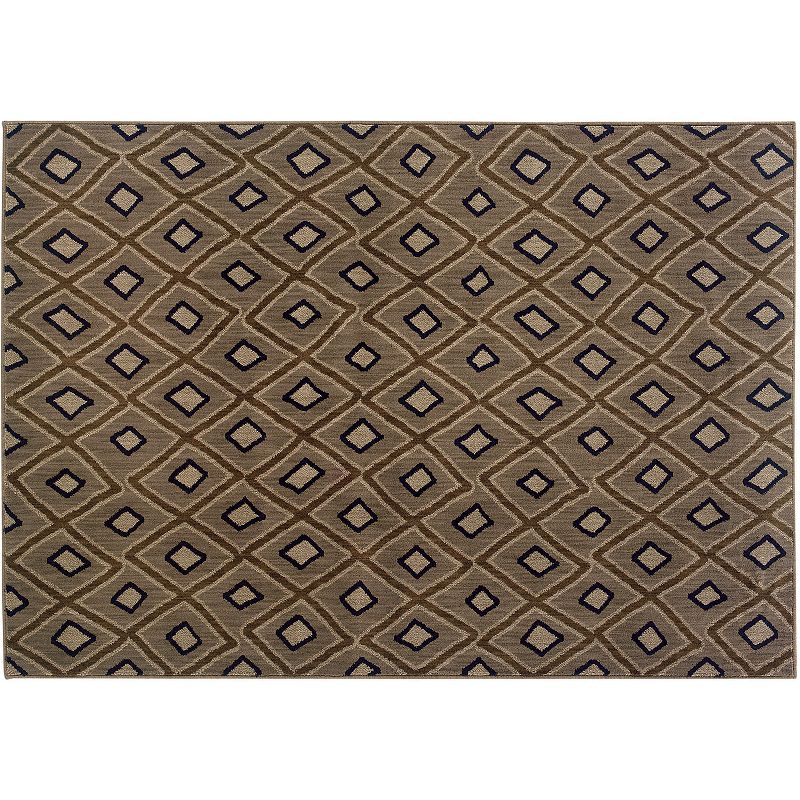 Oriental Weavers Kasbah Gray Geometric Rug