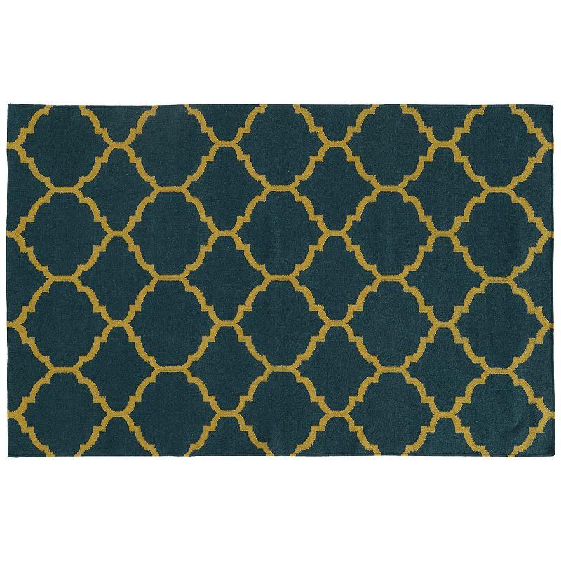 PANTONE UNIVERSE™ Matrix Scalloped Lattice Reversible Wool Rug