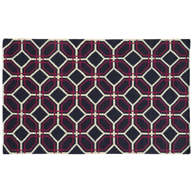 PANTONE UNIVERSE™ Matrix Geometric Tile Reversible Wool Rug