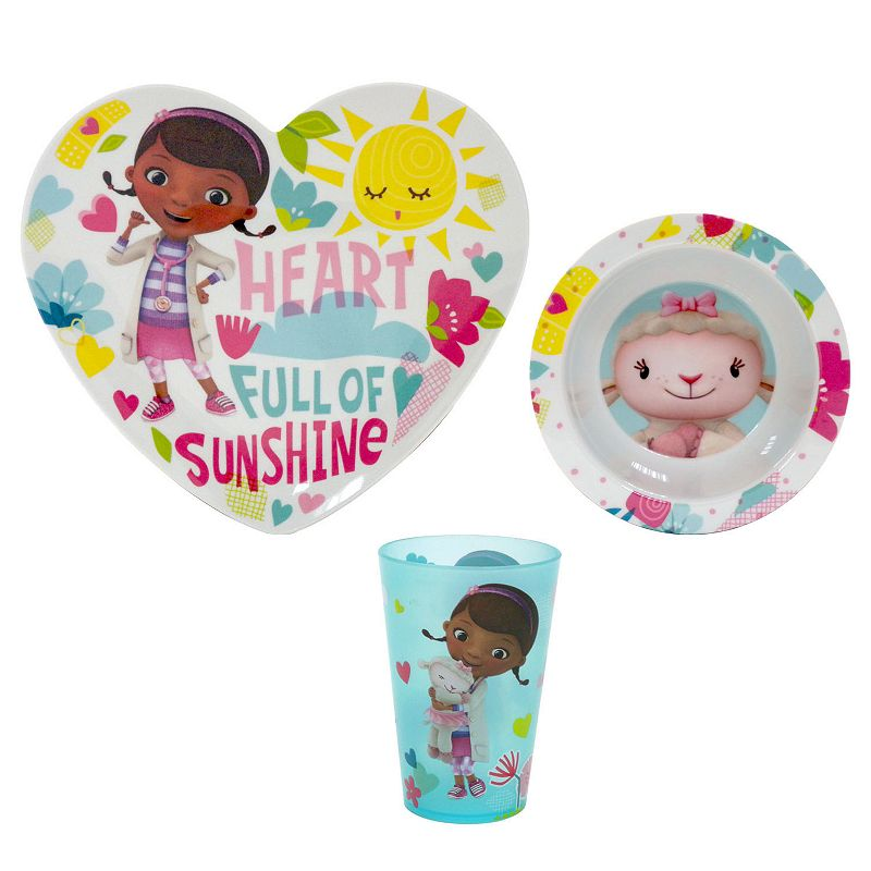 Disney Doc McStuffins 3-pc. Melamine Plate Set by Jumping Beans®