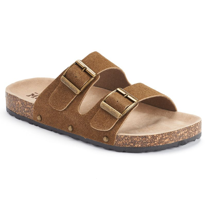 Mudd® Women's Double-Buckle Footbed Slide Sandals