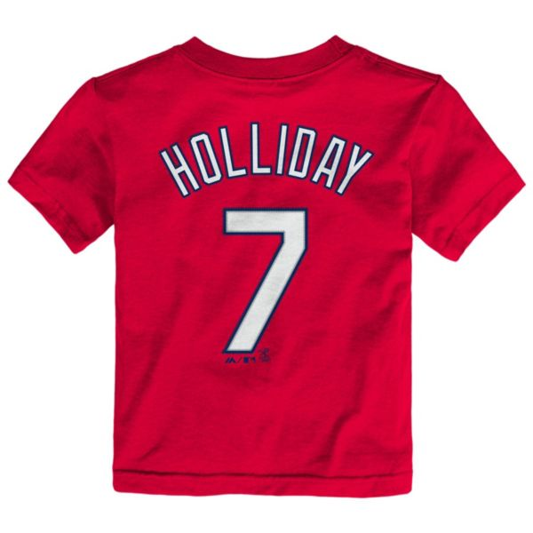 Toddler Majestic St. Louis Cardinals Matt Holliday Player Name and Number Tee