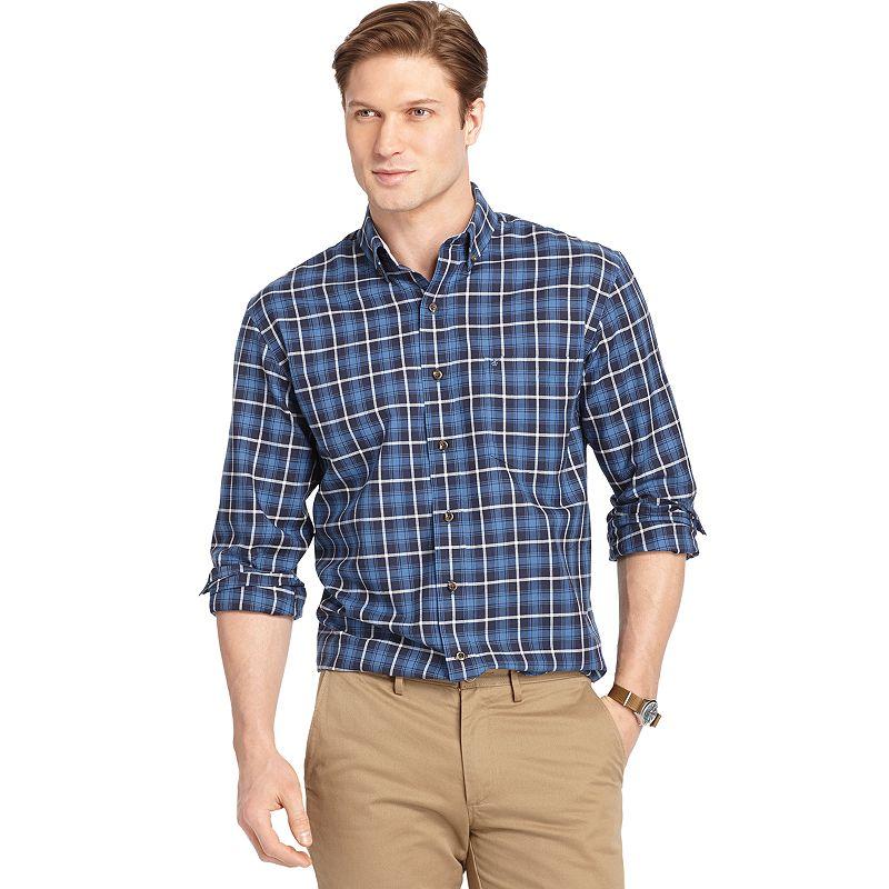 Men's IZOD Classic-Fit Plaid Oxford Button-Down Shirt