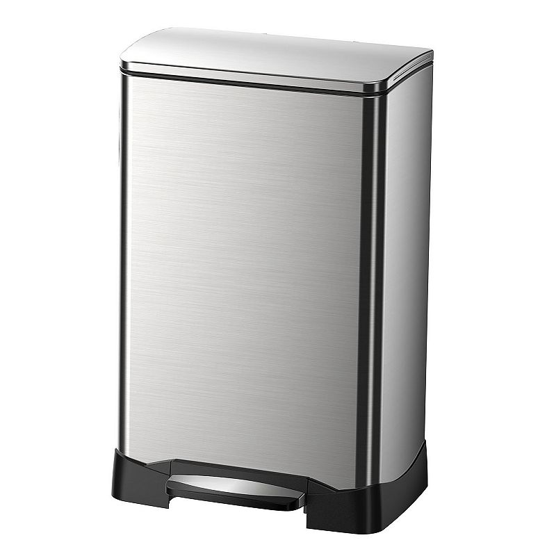 EKO Stainless Steel 10.5-Gallon Rectangular Neo-Cube Step Trash Can