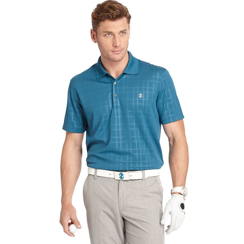 Men's IZOD Medal Play Plaid Polo
