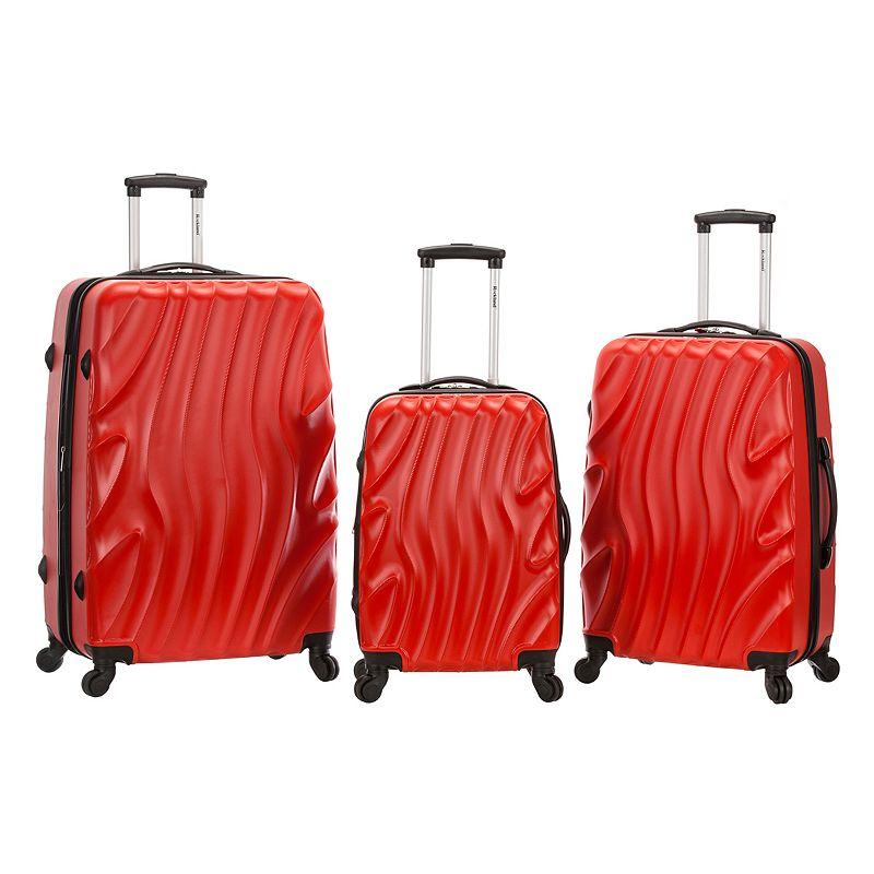 Rockland Melbourne Textured 3-piece Hardside Spinner Luggage Set