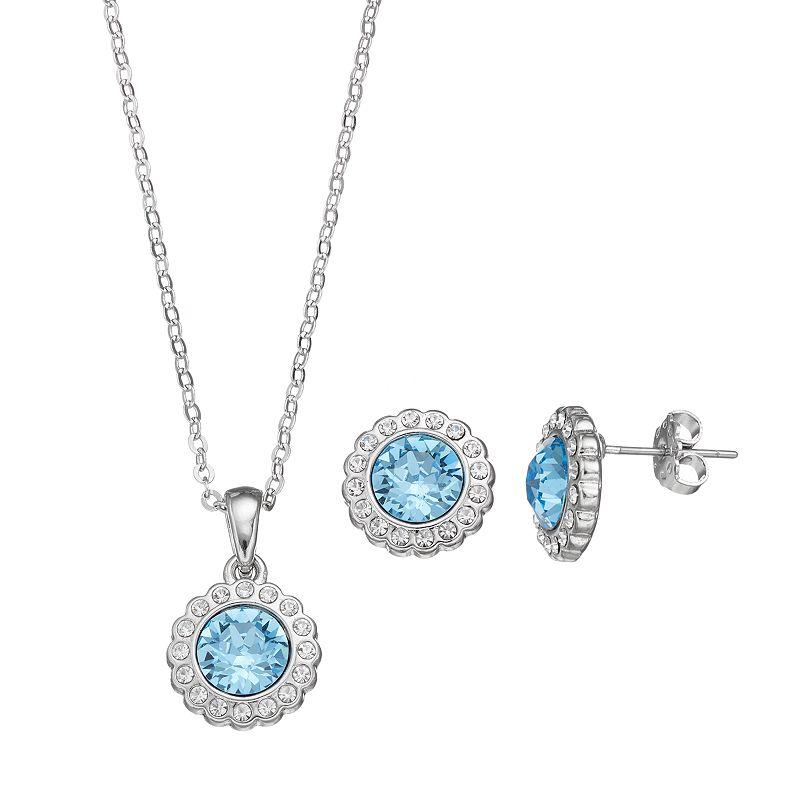 Crystal Brilliance Pendant & Stud Earring Set
