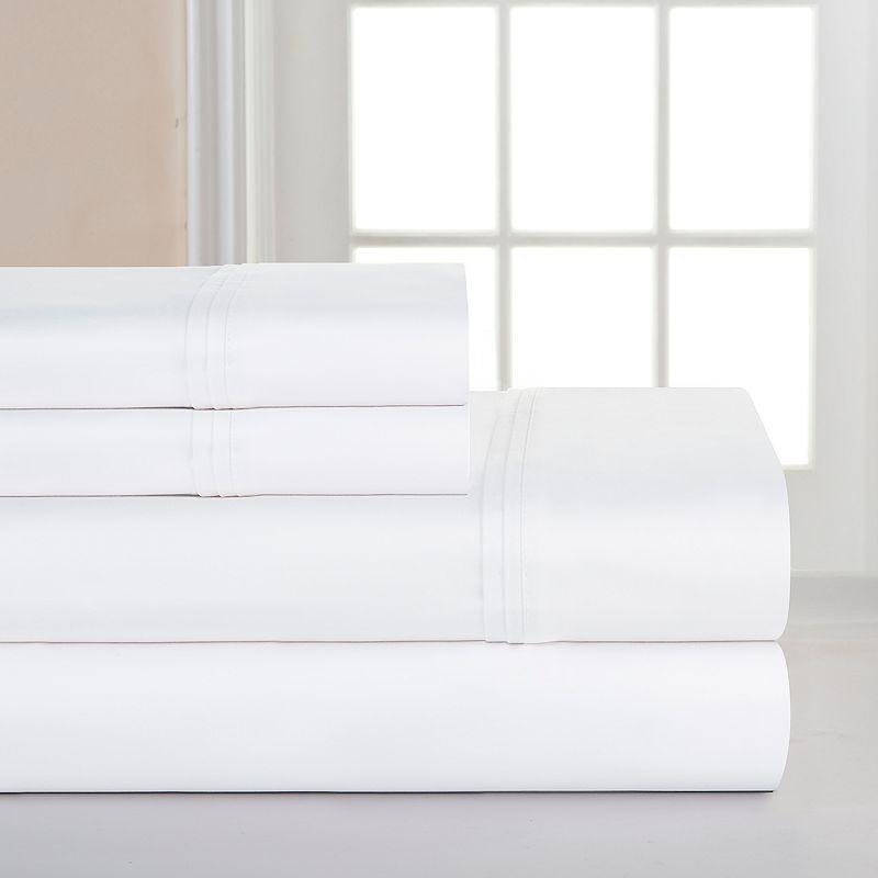 Pointehaven 1000-Thread Count Pima Cotton Sateen Deep-Pocket Sheets