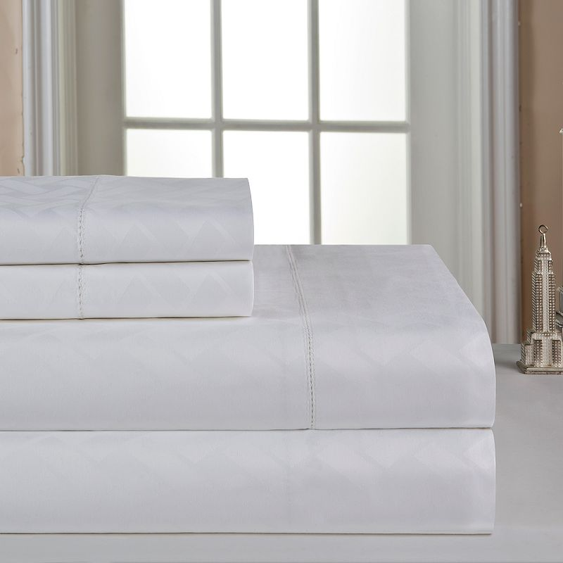 Celeste Home Dobby 410-Thread Count Pima Cotton Deep-Pocket Sheets