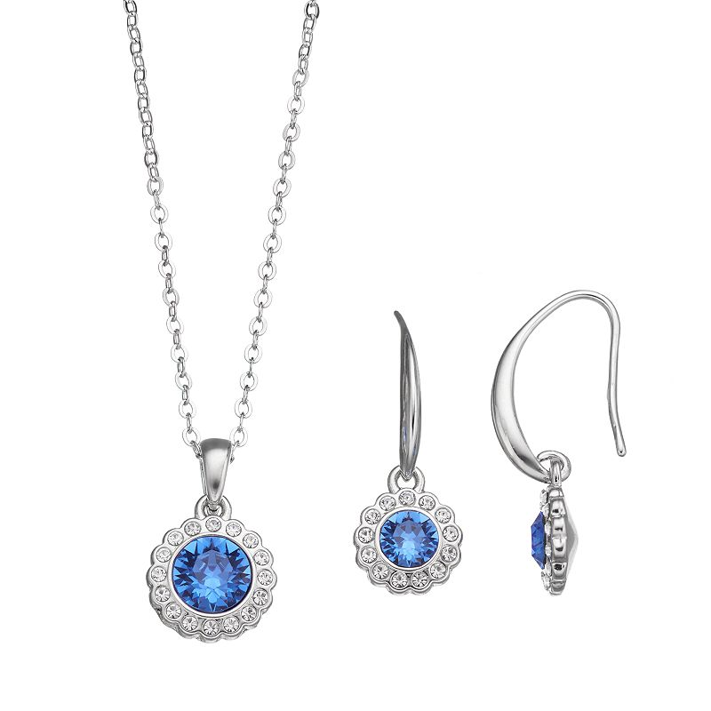 Crystal Brilliance Pendant & Drop Earring Set