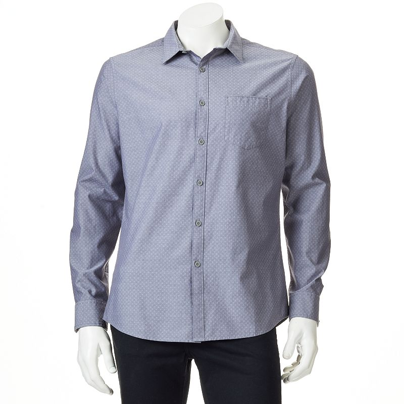 Men's Marc Anthony Slim-Fit Geometric Casual Button-Down Shirt