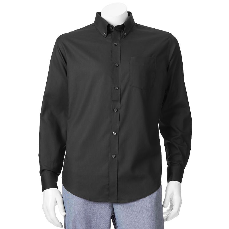 Big & Tall Croft & Barrow® Solid Easy-Care Casual Button-Down Shirt
