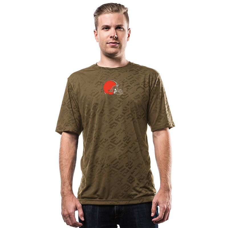 Men's Majestic Cleveland Browns Point Spread Synthetic Tee