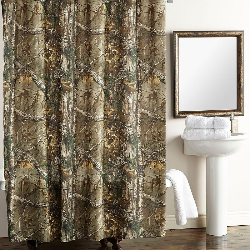 Realtree Camo Fabric Shower Curtain