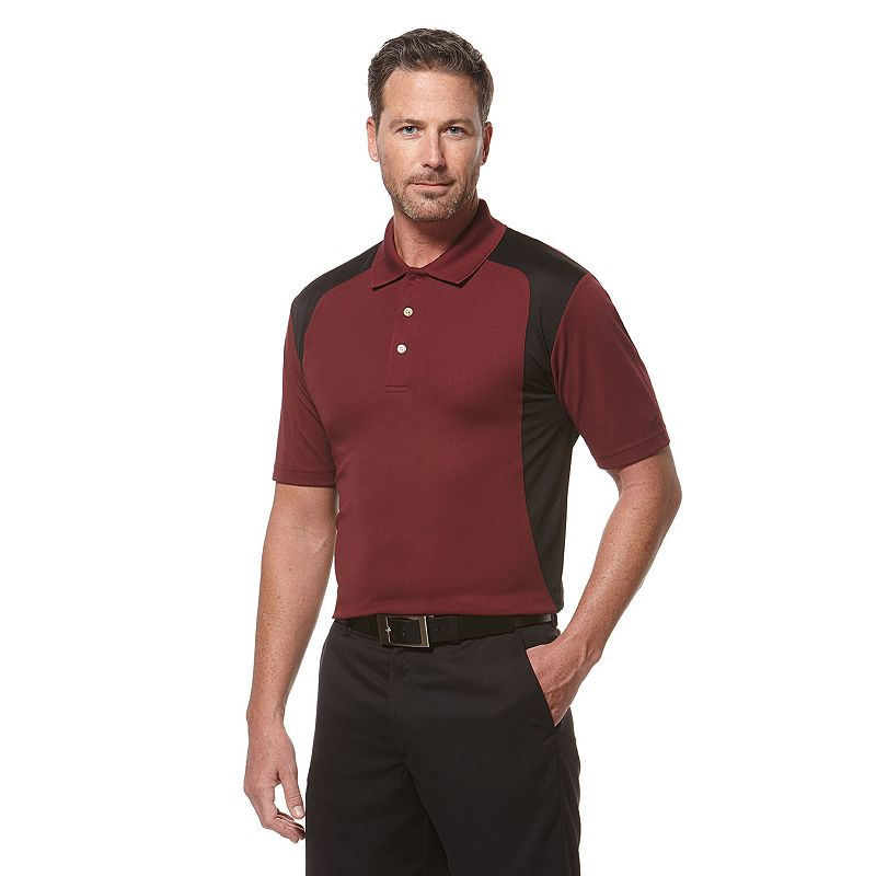 Men's Grand Slam Colorblock Classic-Fit Airflow Performance Polo
