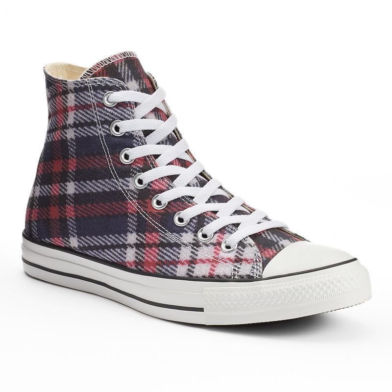 Men's Converse All Star Plaid High-Top Sneakers