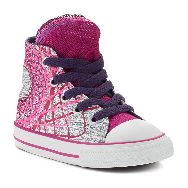 Toddler Converse All Star Party Multi-Tongue High-Top Sneakers