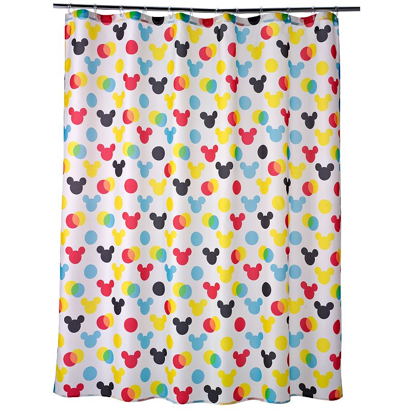 Disney's Mickey Mouse Polka-Dot Fabric Shower Curtain